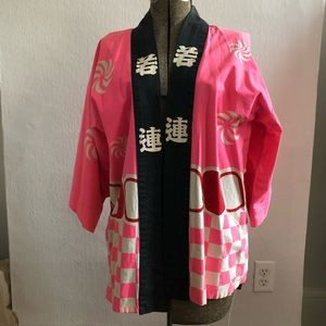 JAPANESE PINK AND RED KIMONO
